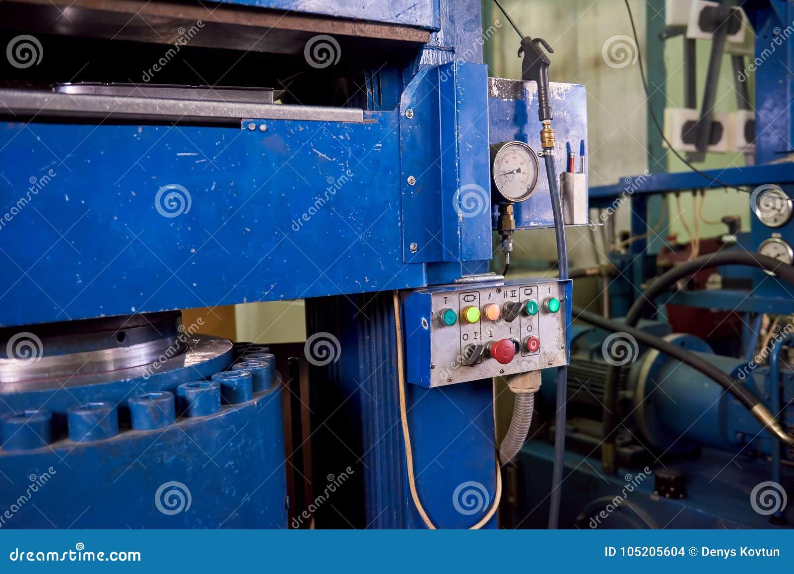 Máquina da imprensa hidráulica, painel de controle