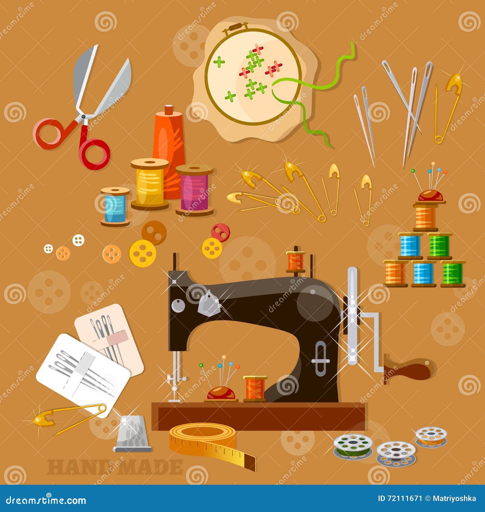 Máquina de costura da costureira e do alfaiate