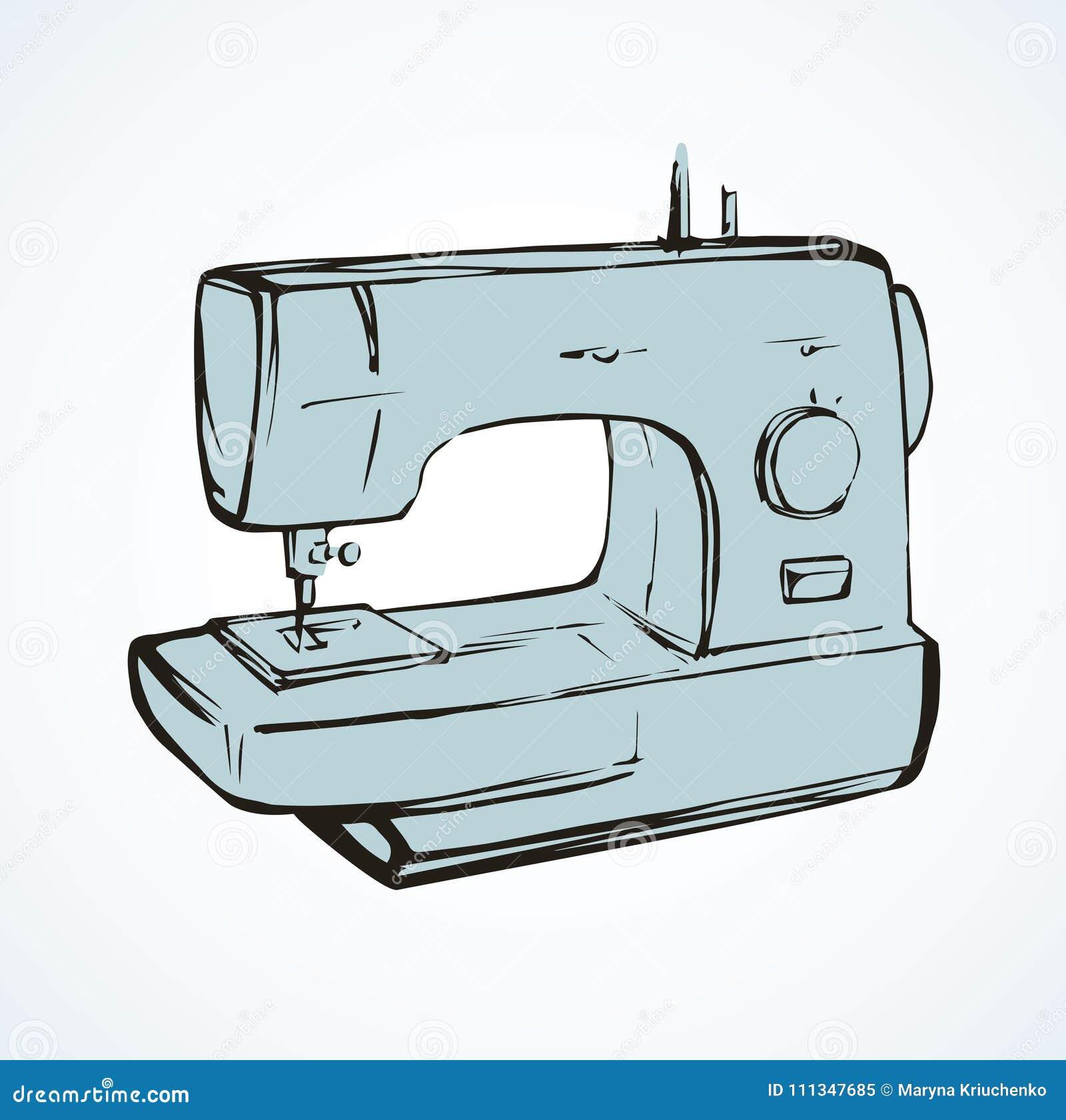 Maquina De Costura Desenho Do Vetor Ilustracao Do Vetor