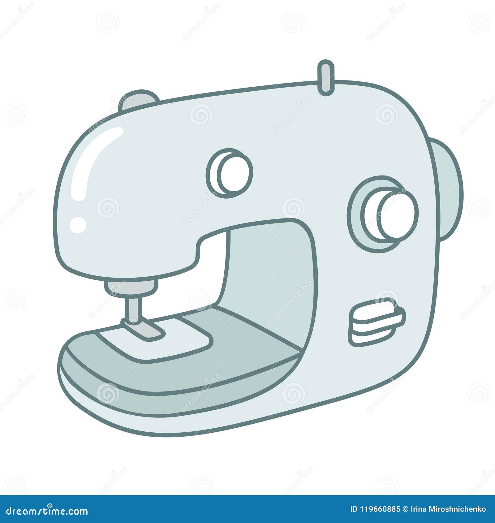 Maquina De Costura Moderna Dos Desenhos Animados Ilustracao Do