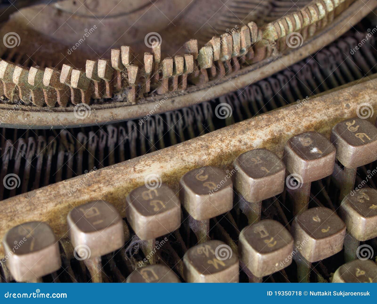 Máquina de escrever muito velha