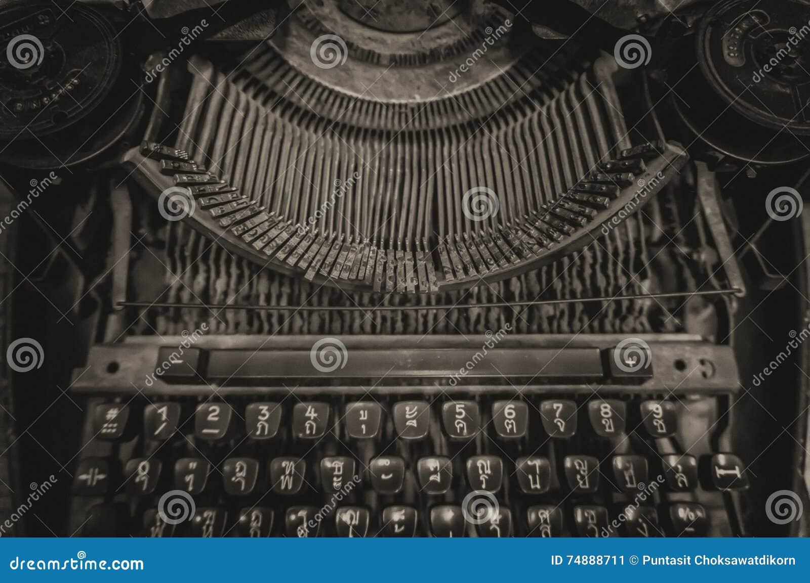 Máquina de escrever velha