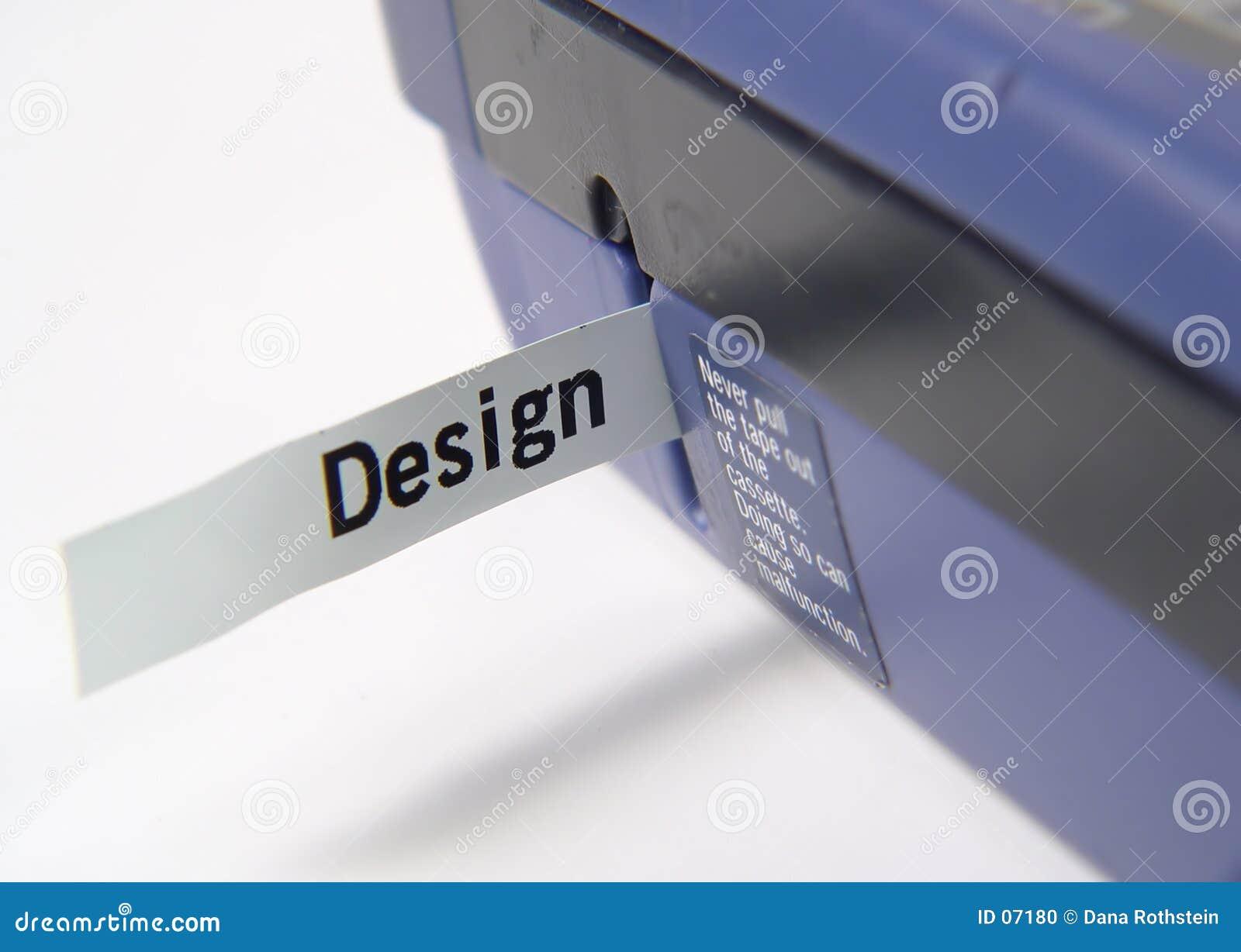 Máquina de escritura de la etiqueta