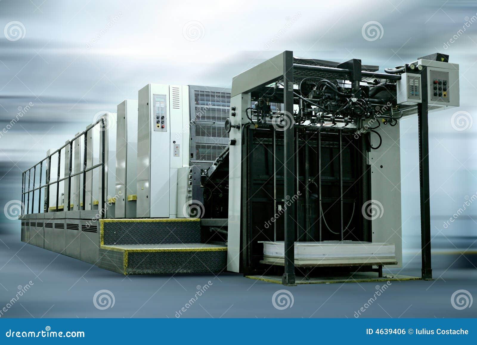 Máquina de impressão deslocada