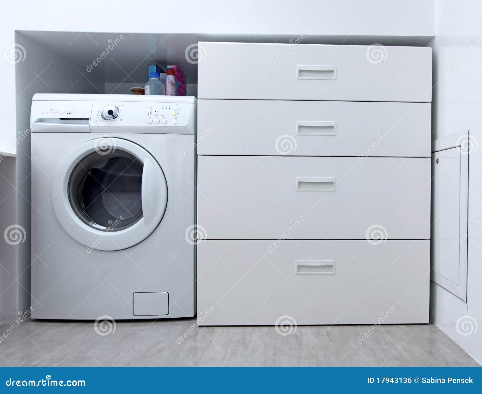 Máquina De Lavar No Banheiro Imagem de Stock Royalty Free Imagem  #82A328 1300 1078