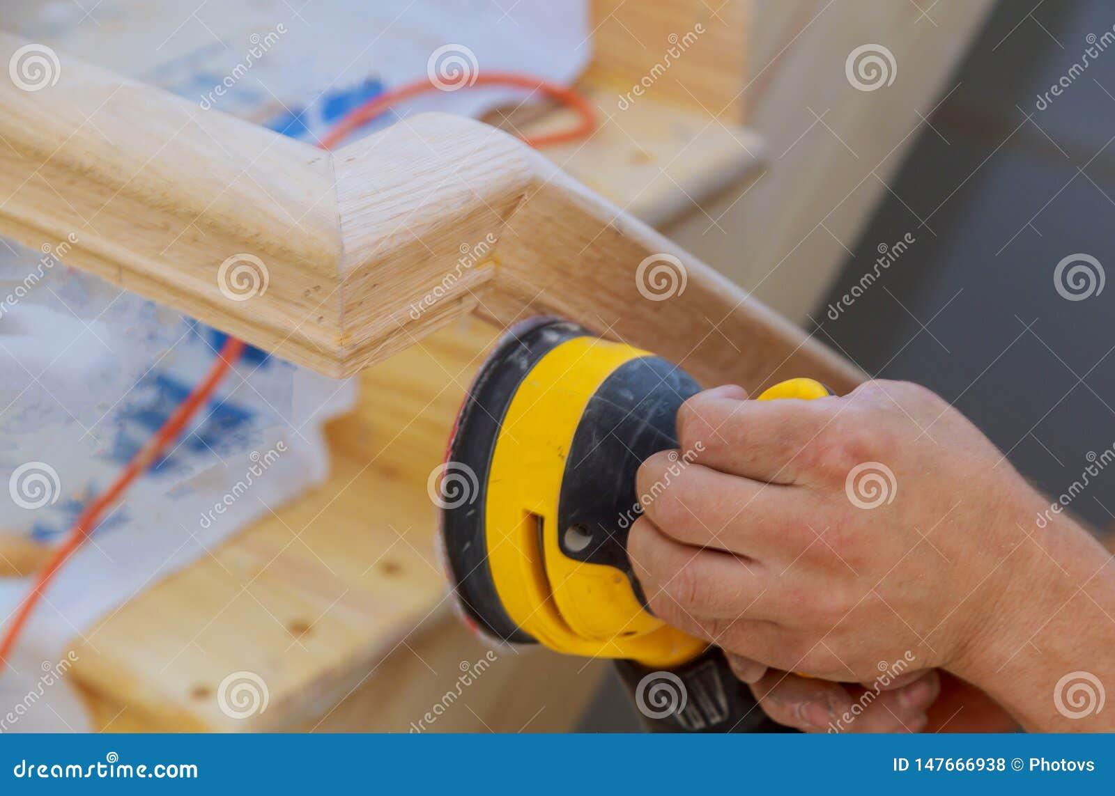Máquina de lixar da renovação dos corrimão do renovtion das escadas para corrimão de madeira