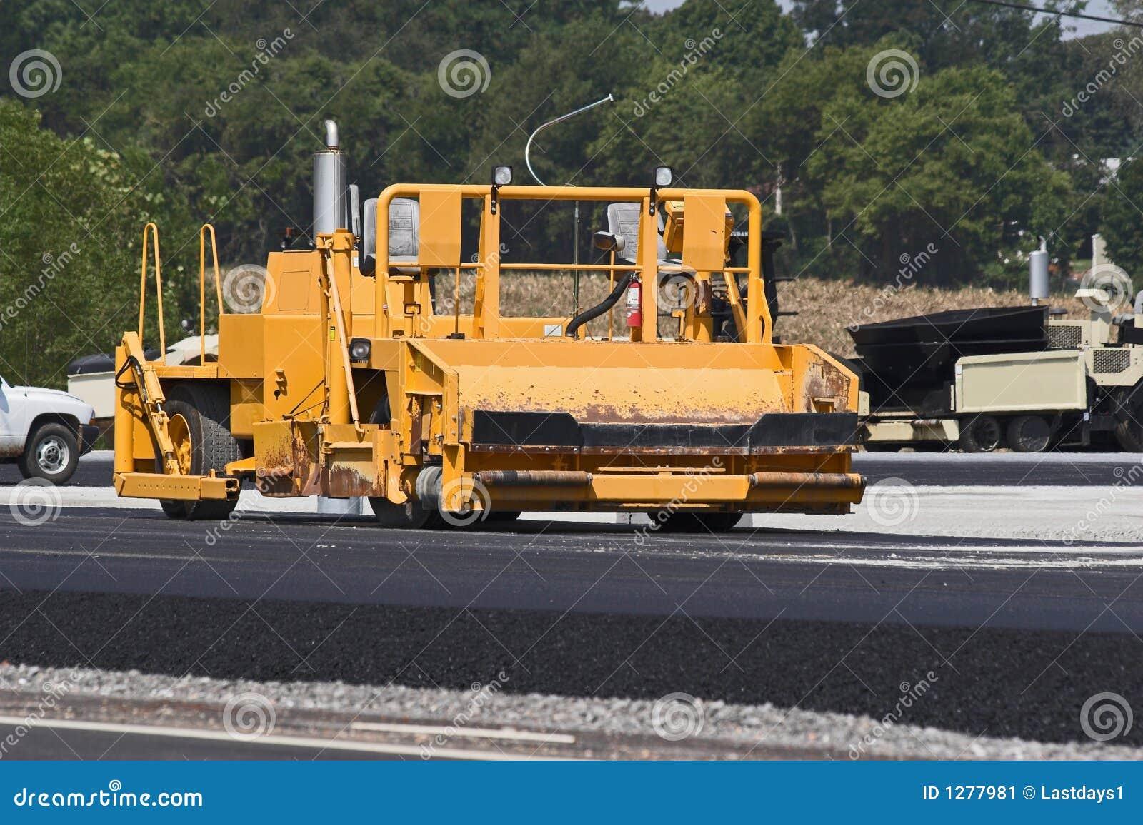 Máquina del asfalto