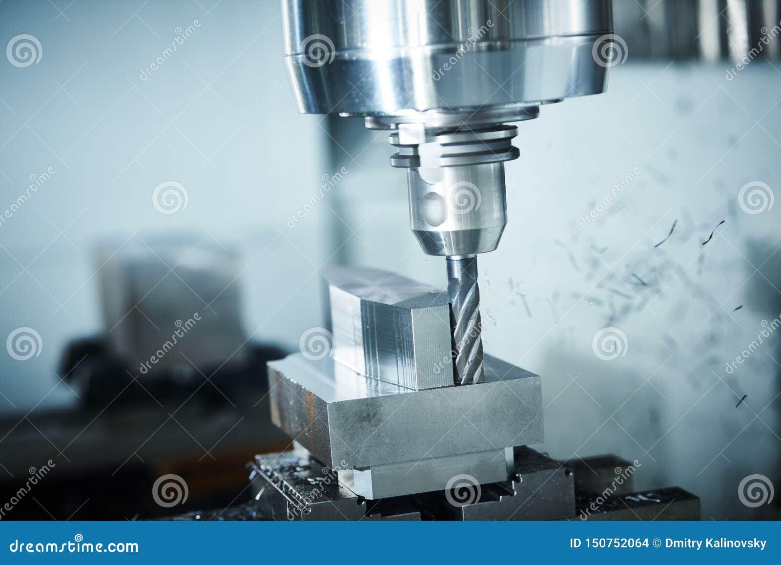 Máquina del CNC que muele en la industria del trabajo del metal Precisión de Multitool que fabrica y que trabaja a máquina