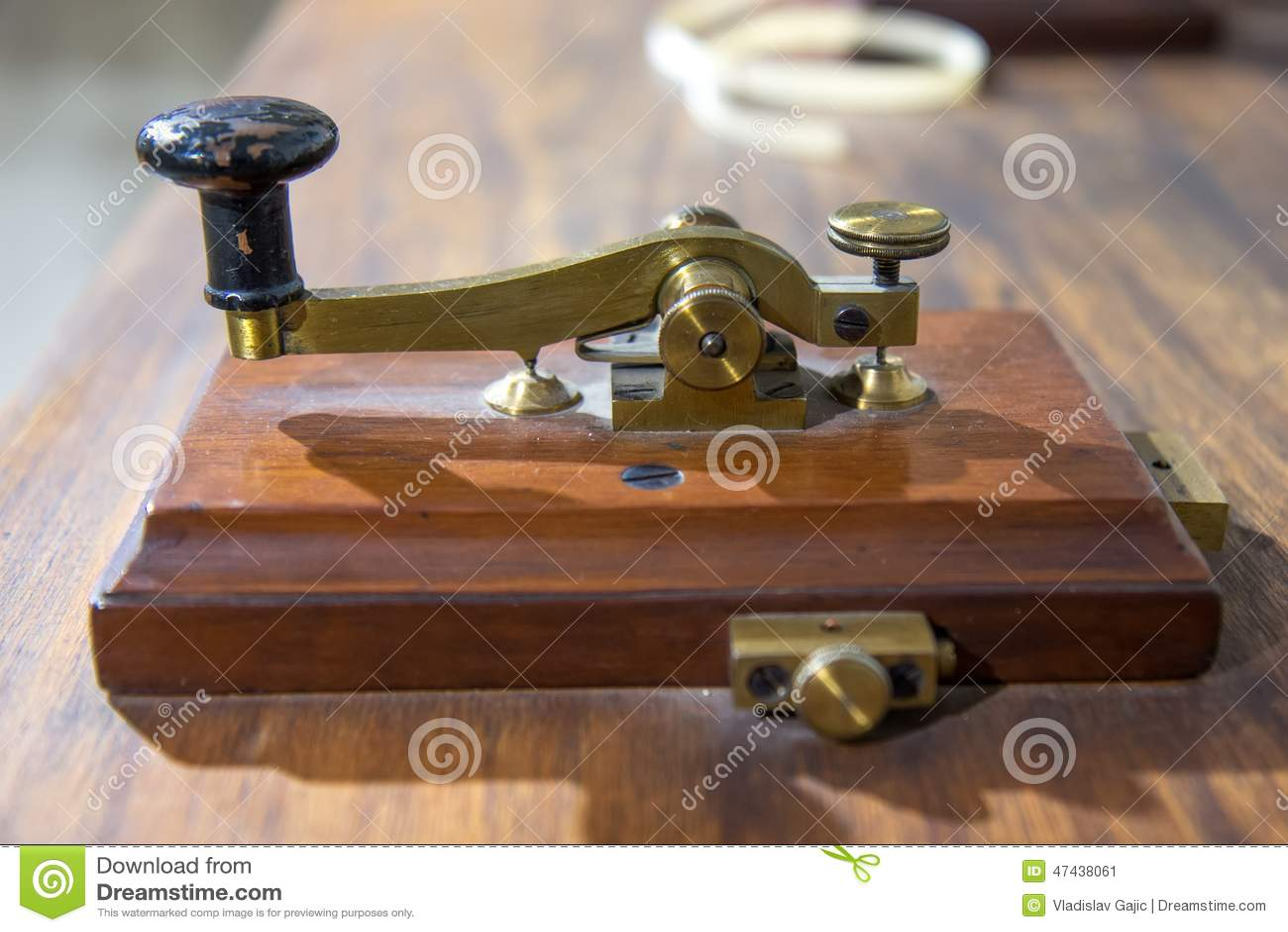 Máquina do telégrafo de morse do vintage