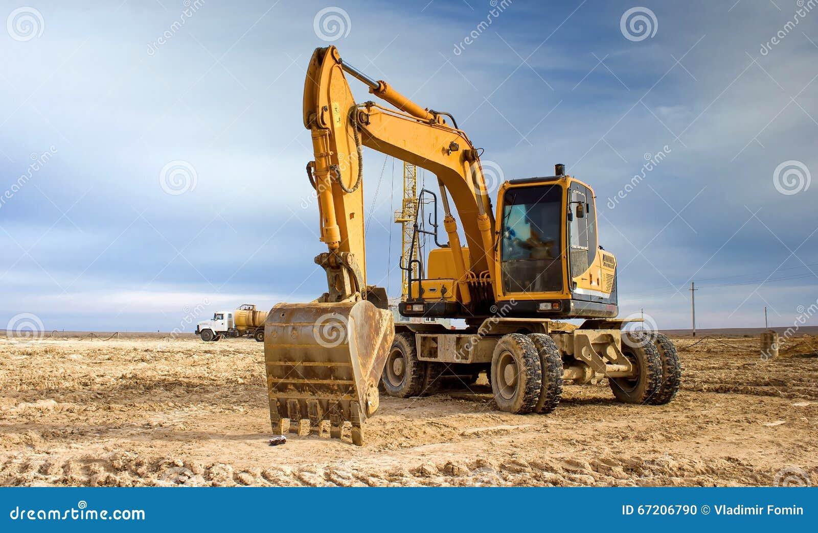 Máquina escavadora da roda