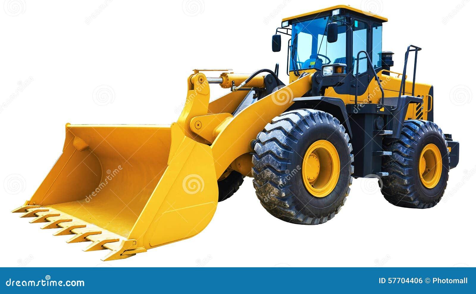 Máquina escavadora do carregador da roda isolada