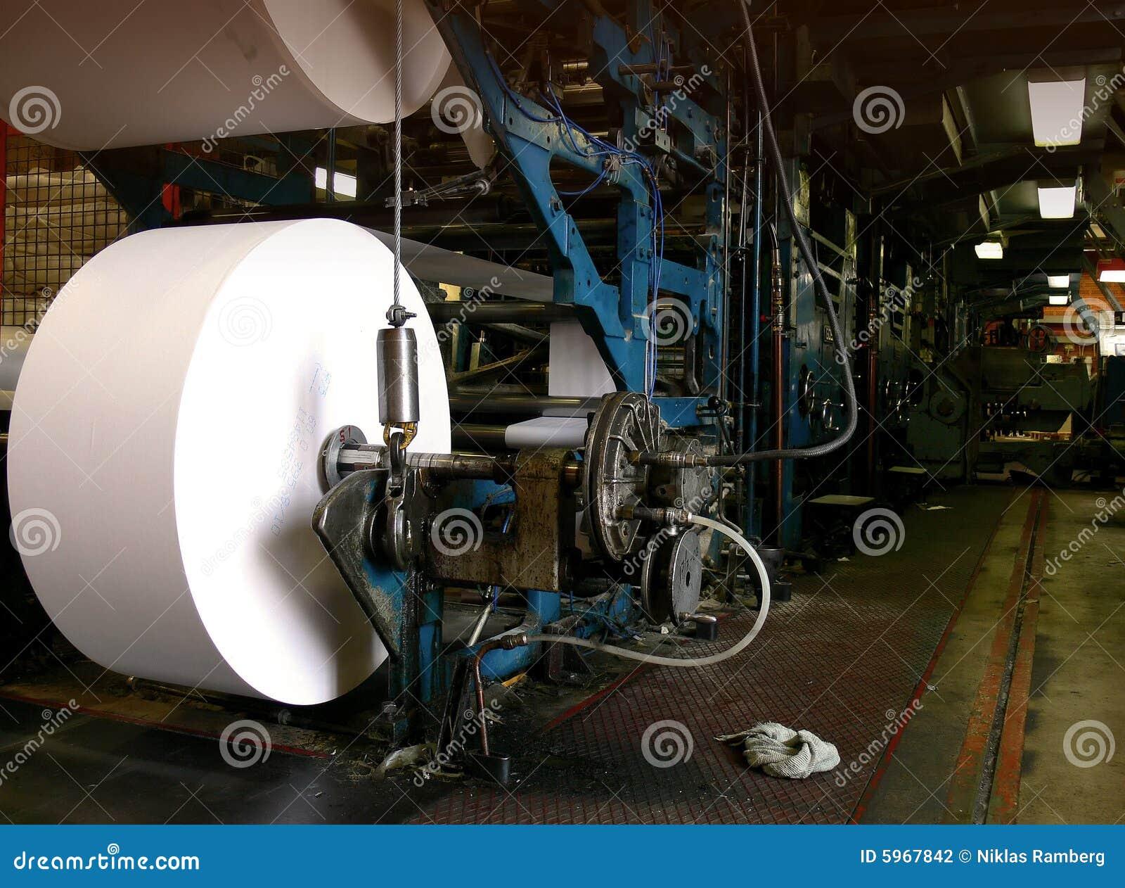 Máquina grande de la impresión del desplazamiento
