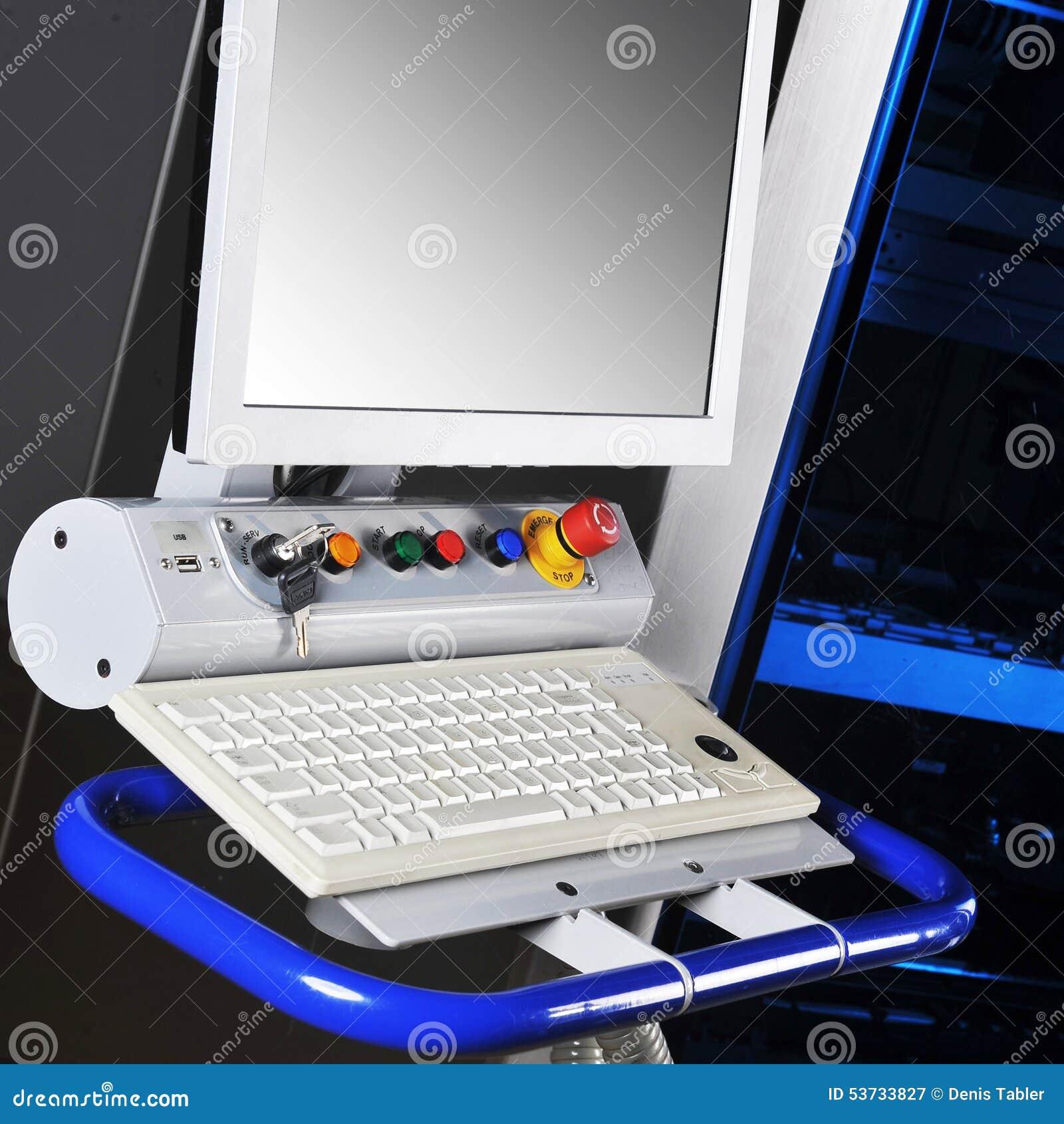 Máquina moderna do painel de controle