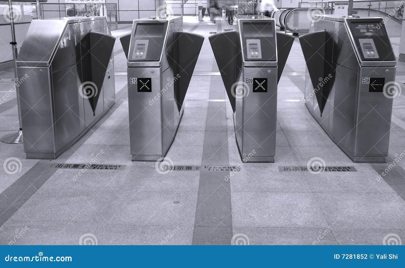 Máquinas del boleto del subterráneo