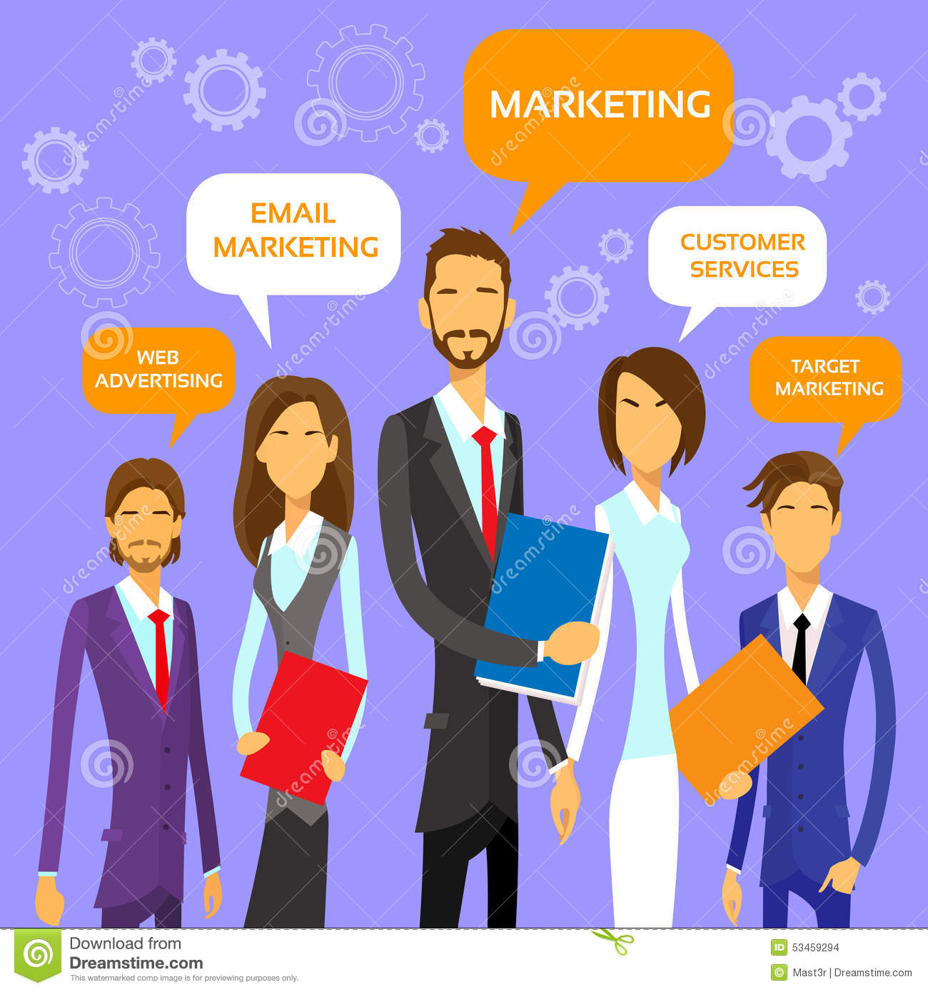 Márketing Team Concept Business People Group