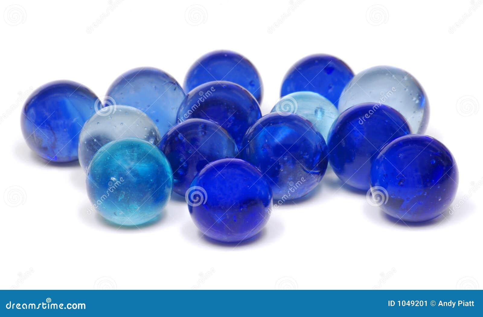 Mármoles de cristal azules