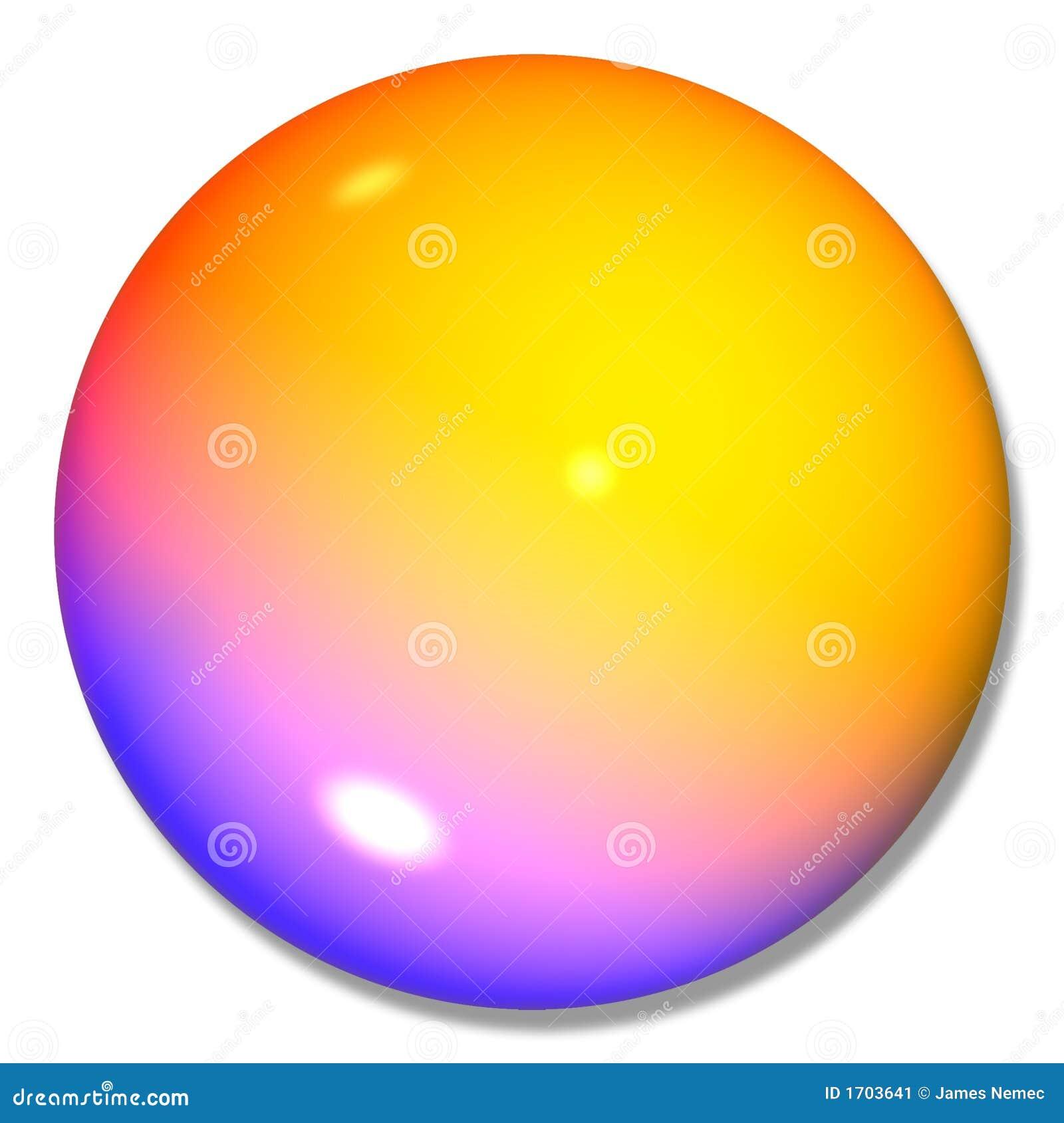 Mármore Multi-colored da esfera da tecla
