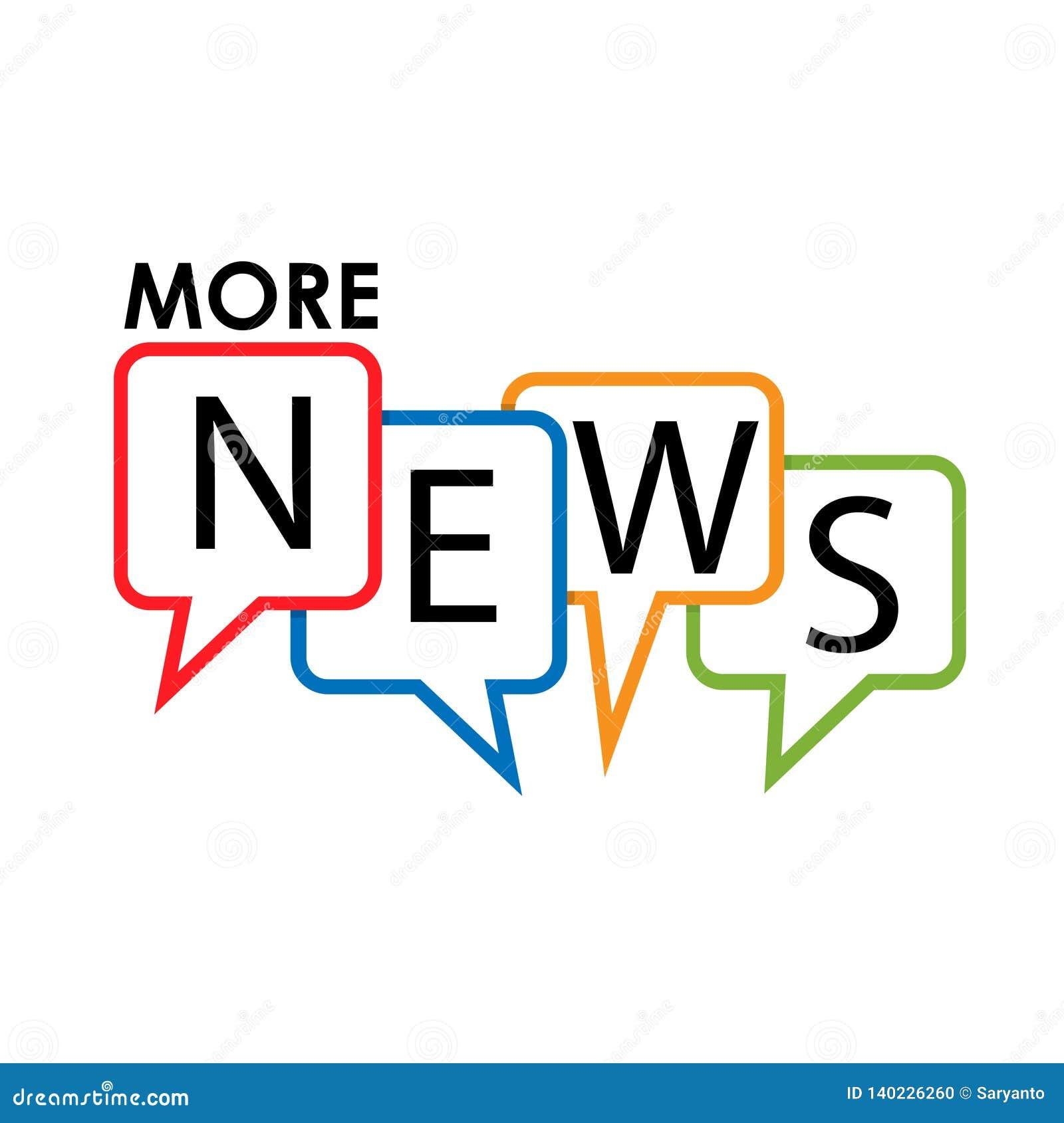 Más etiqueta común de las noticias, diseño plano Icono colorido