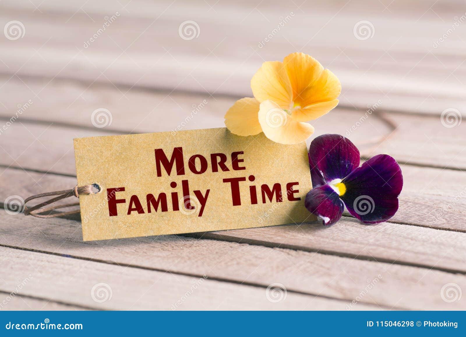 Más etiqueta del tiempo de la familia