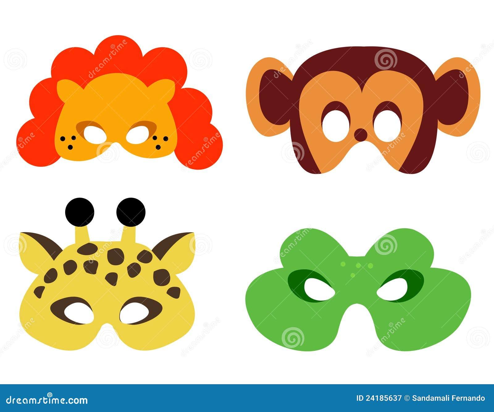 Máscara Animal Ilustração Do Vetor Ilustração De Falso 24185637