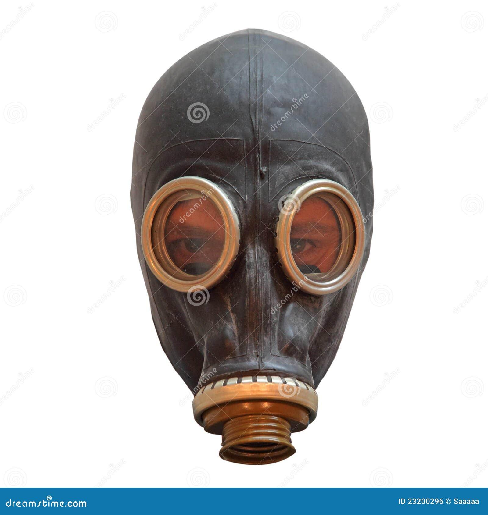 Máscara de Chernobyl con los ojos del hombre
