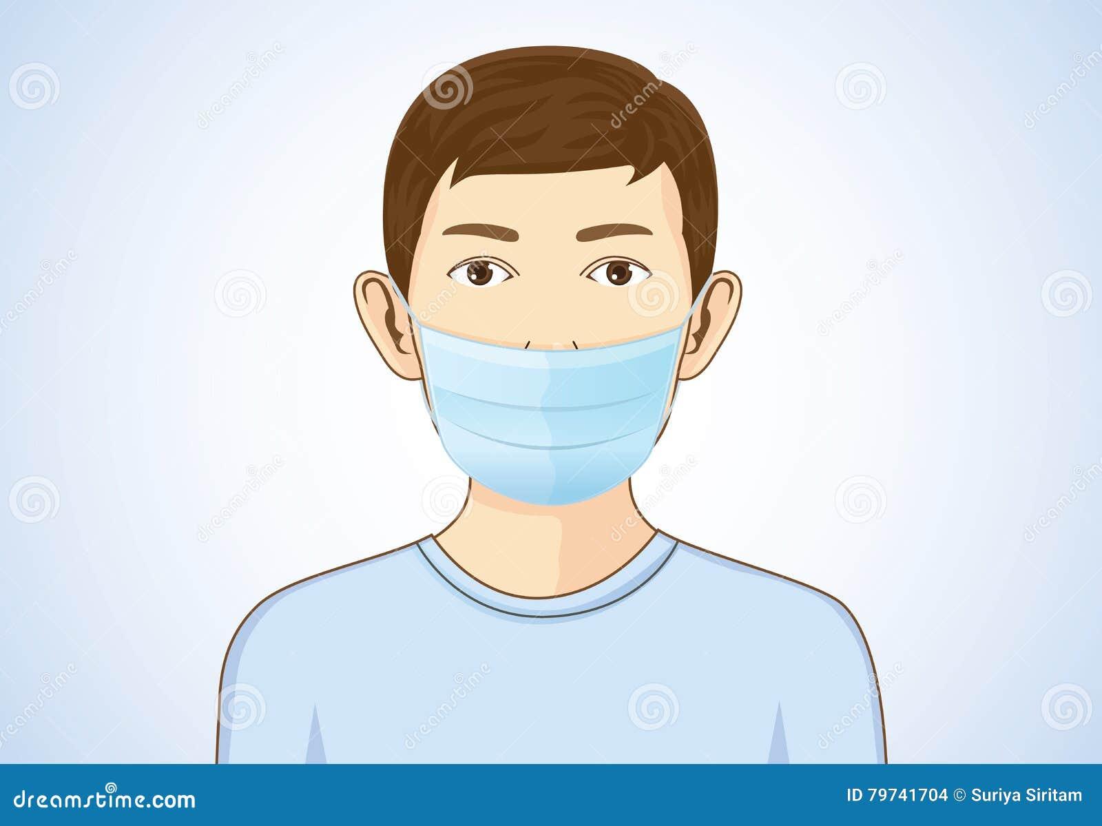 Máscara de la respiración del muchacho que lleva