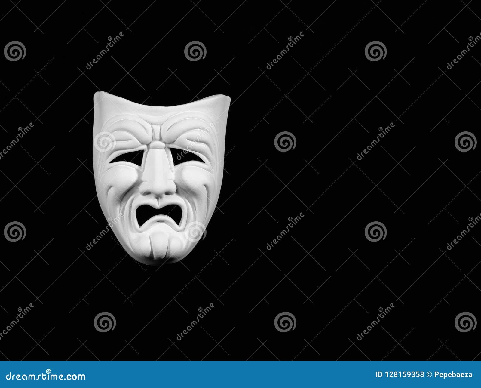 Máscara de la tragedia del teatro