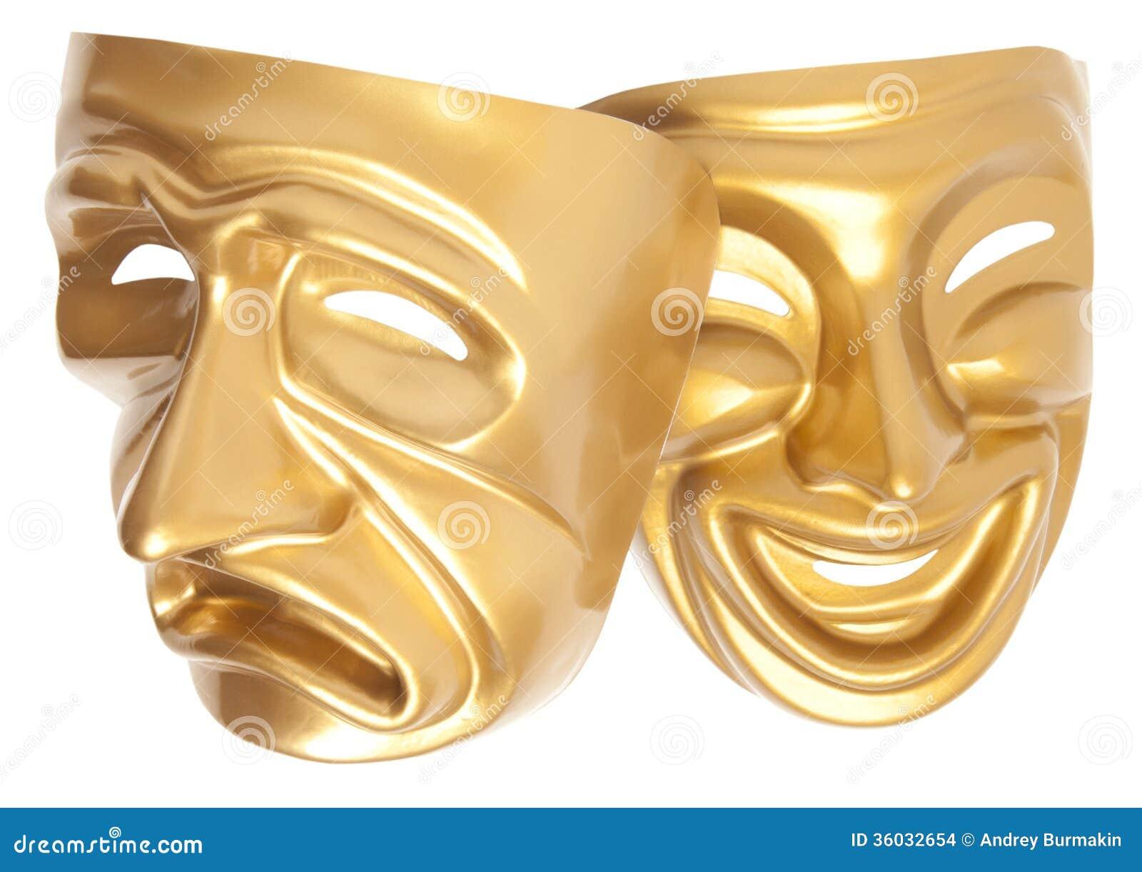Máscara de teatro de la comedia y de la tragedia