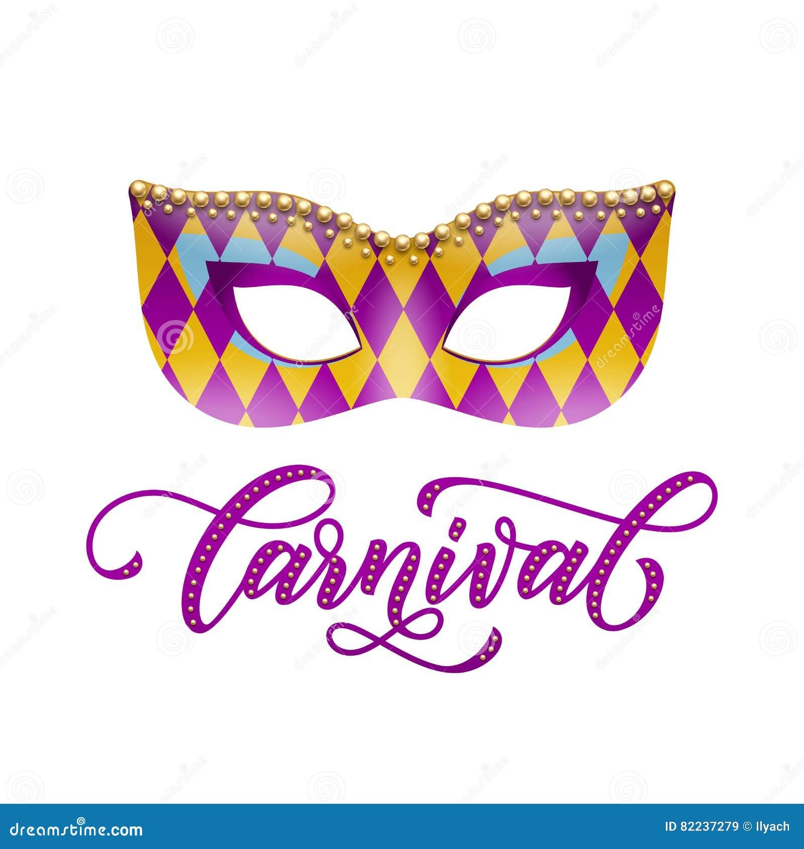 Máscara Del Carnaval Con El Modelo Del Arlequín Para La Mascarada De ...