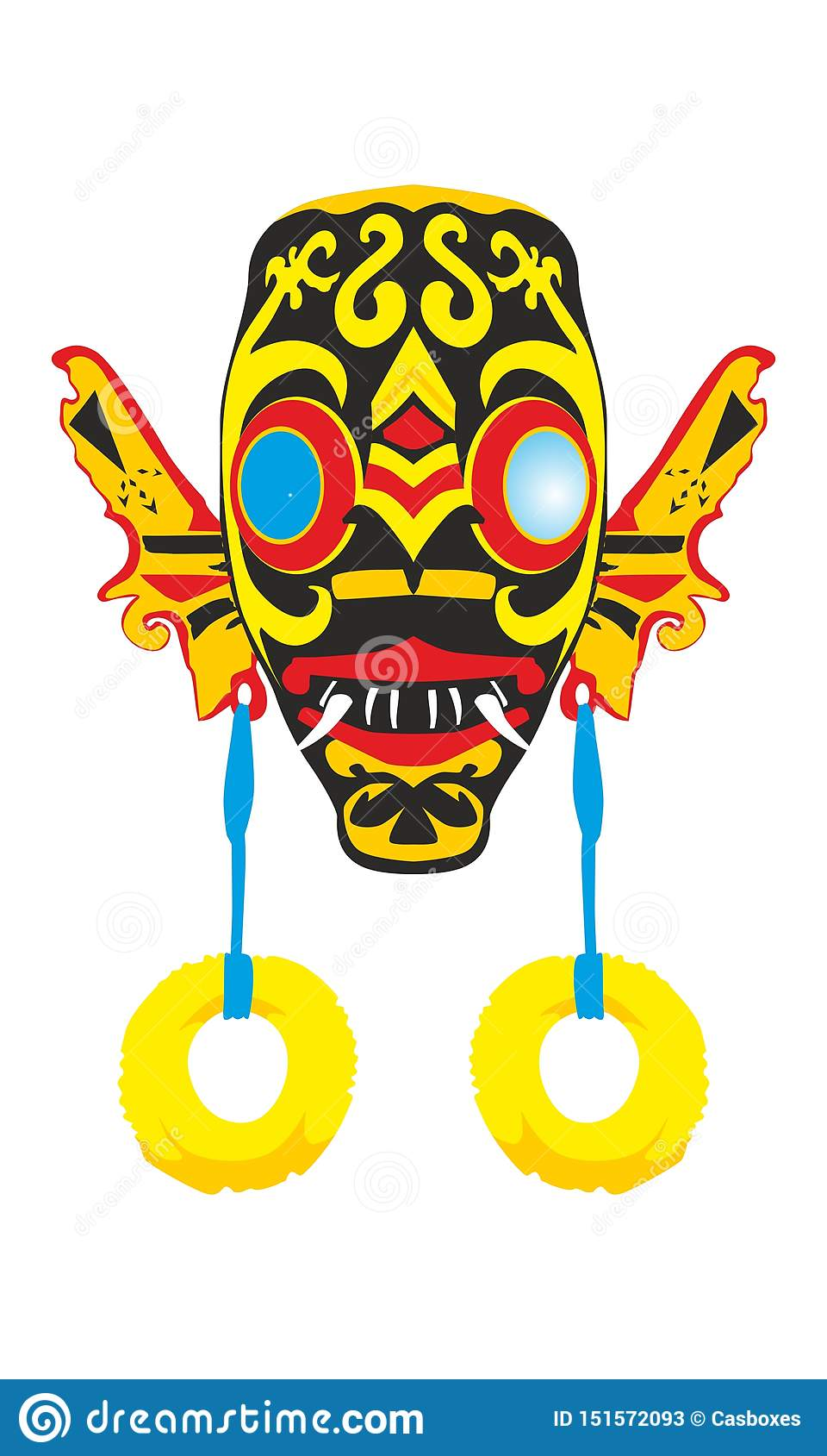 Máscara del Dayak