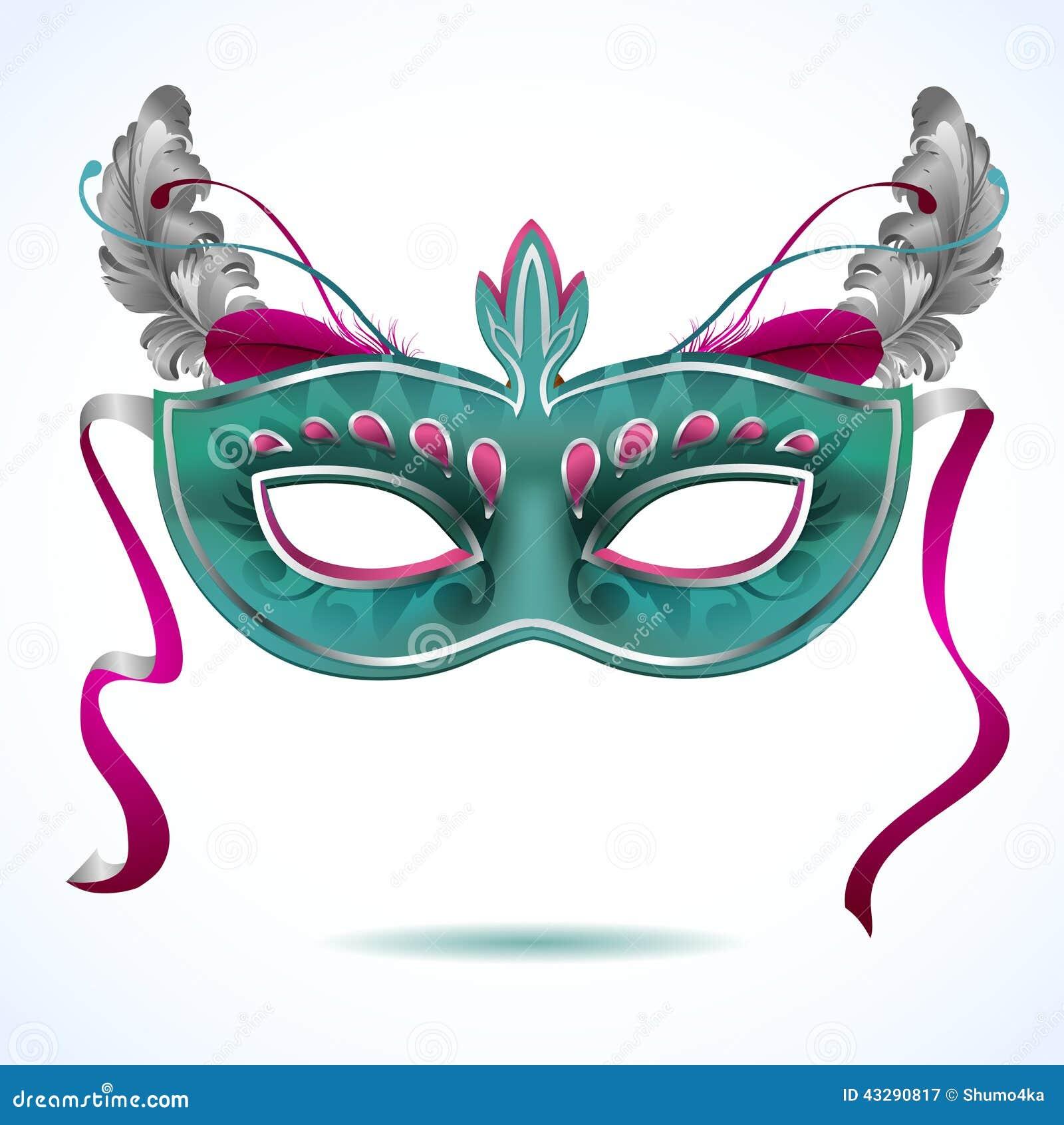 M scara do carnaval com ilustra es do vetor das penas - Mascaras para carnaval ...
