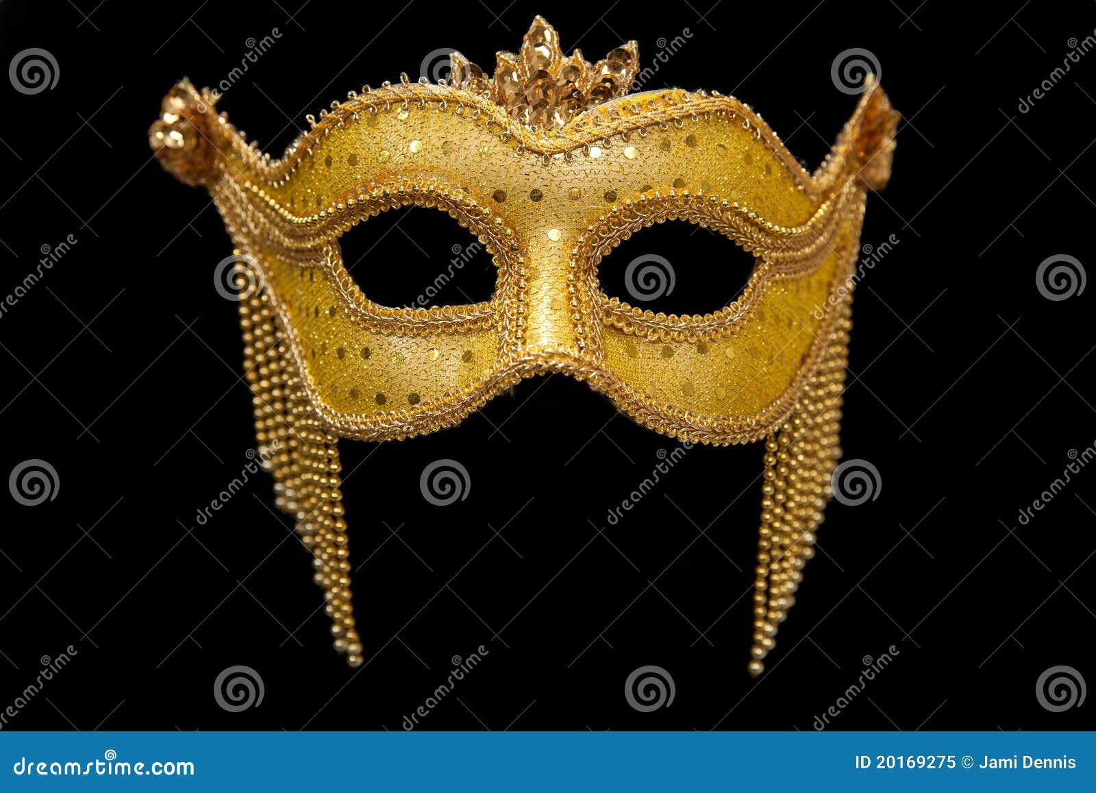 Máscara do carnaval do ouro