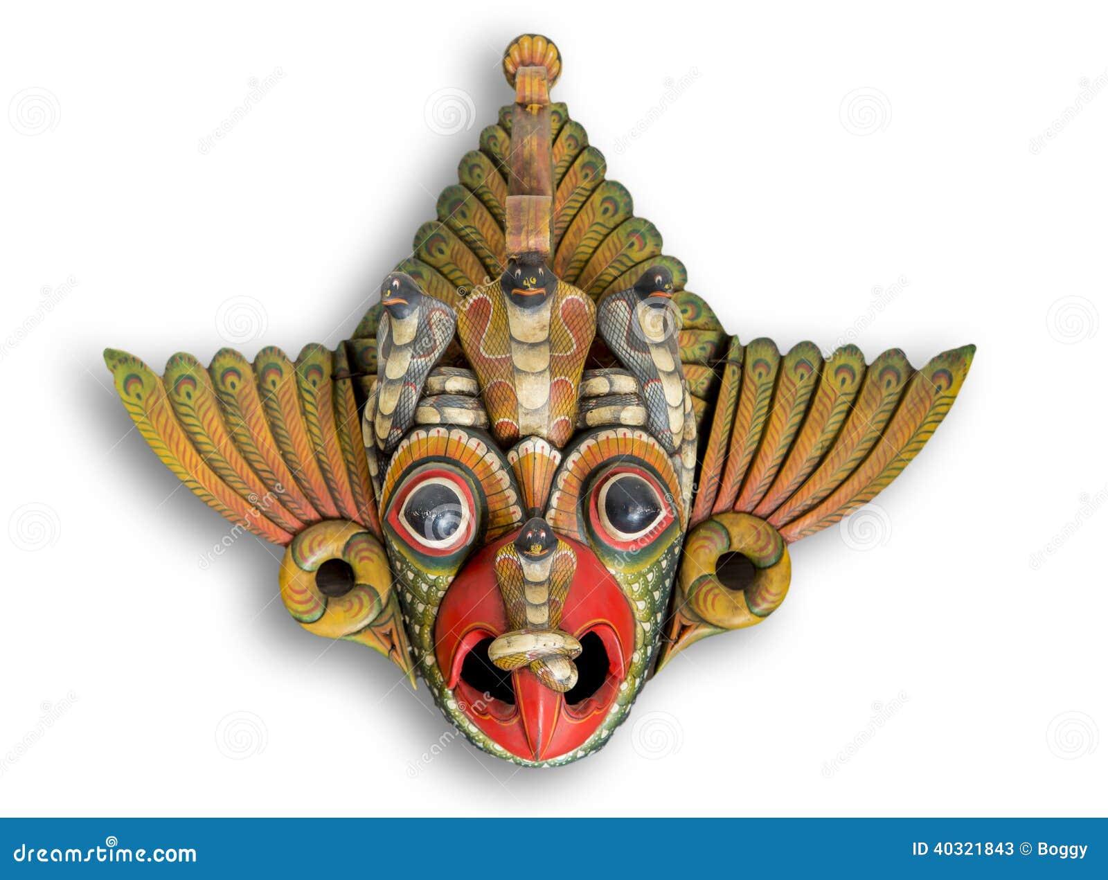Máscara do diabo da cobra de Sri Lanka