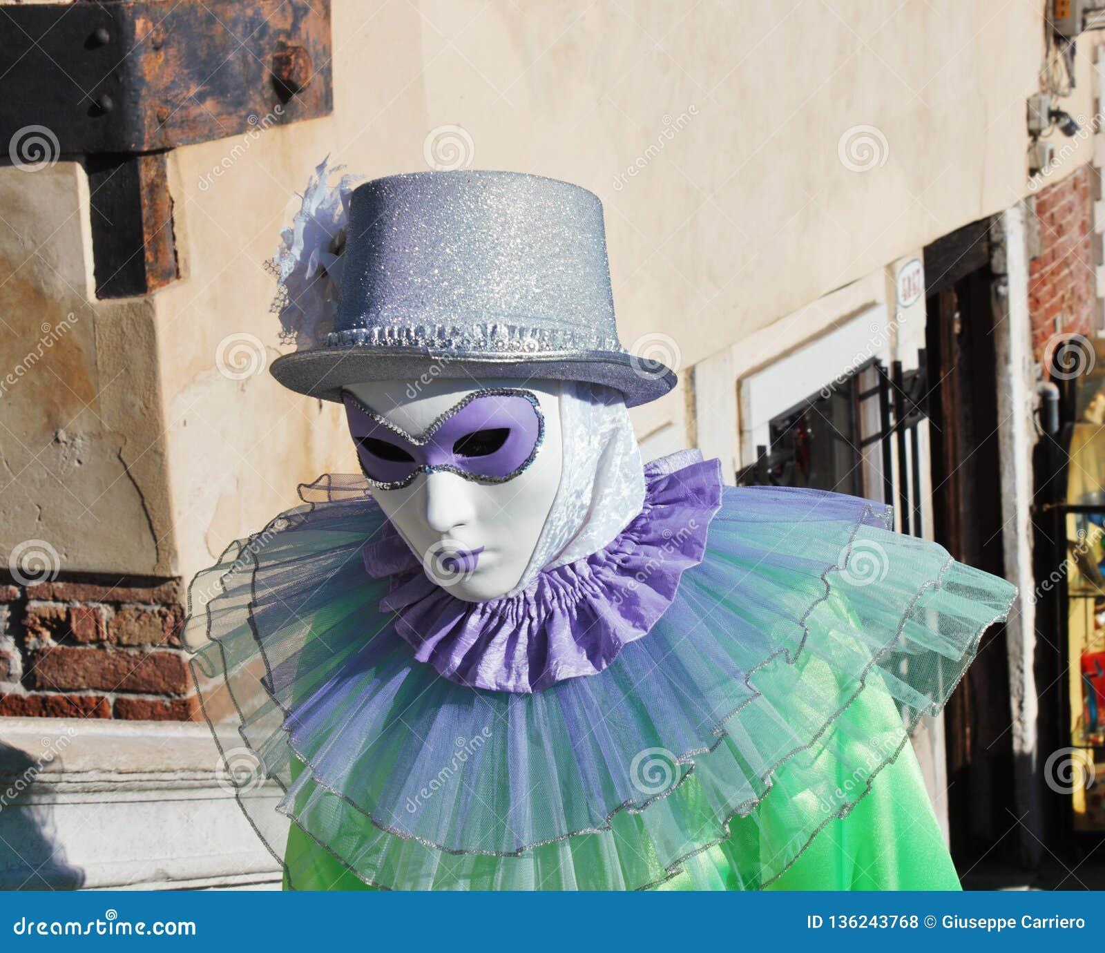 A máscara do Venetian-estilo, o carnaval de Veneza é um do mais famosos no mundo, seu característico é as máscaras, criadas ao re