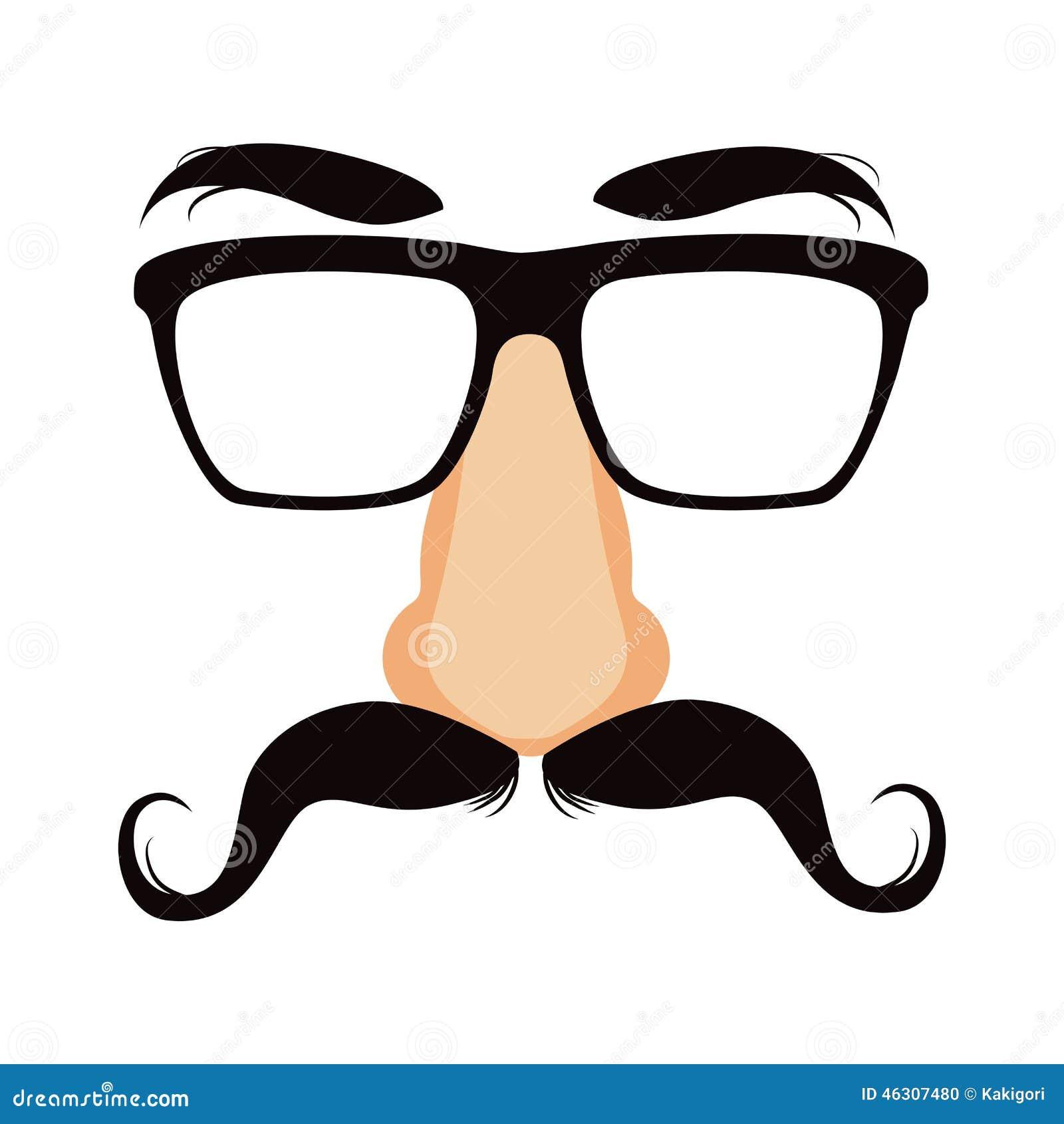 Máscara engraçada do disfarce do bigode