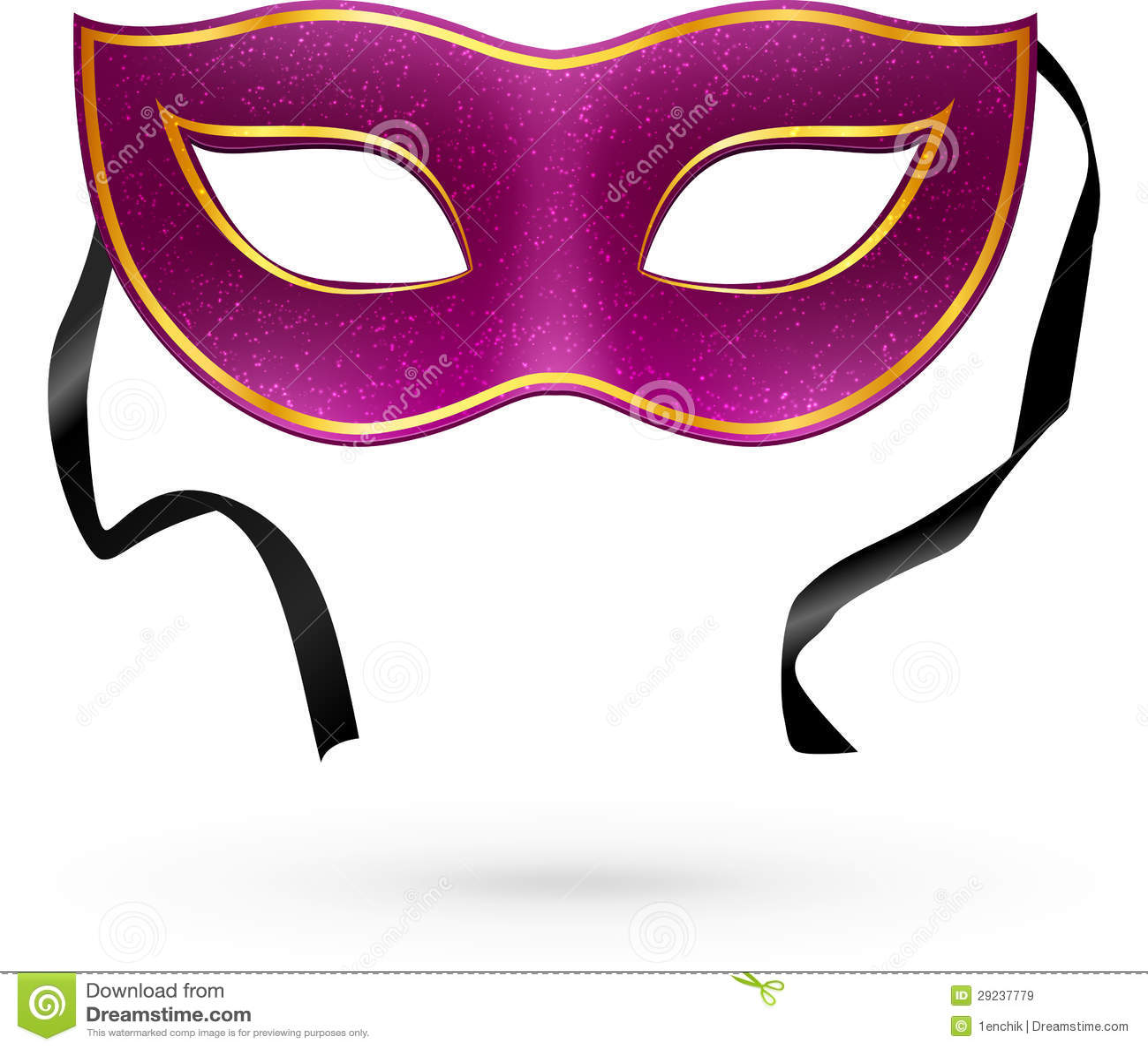 Download Máscara Violeta Do Carnaval Do Vetor Com Fitas Ilustração do Vetor - Ilustração de mardi, decorativo: 29237779