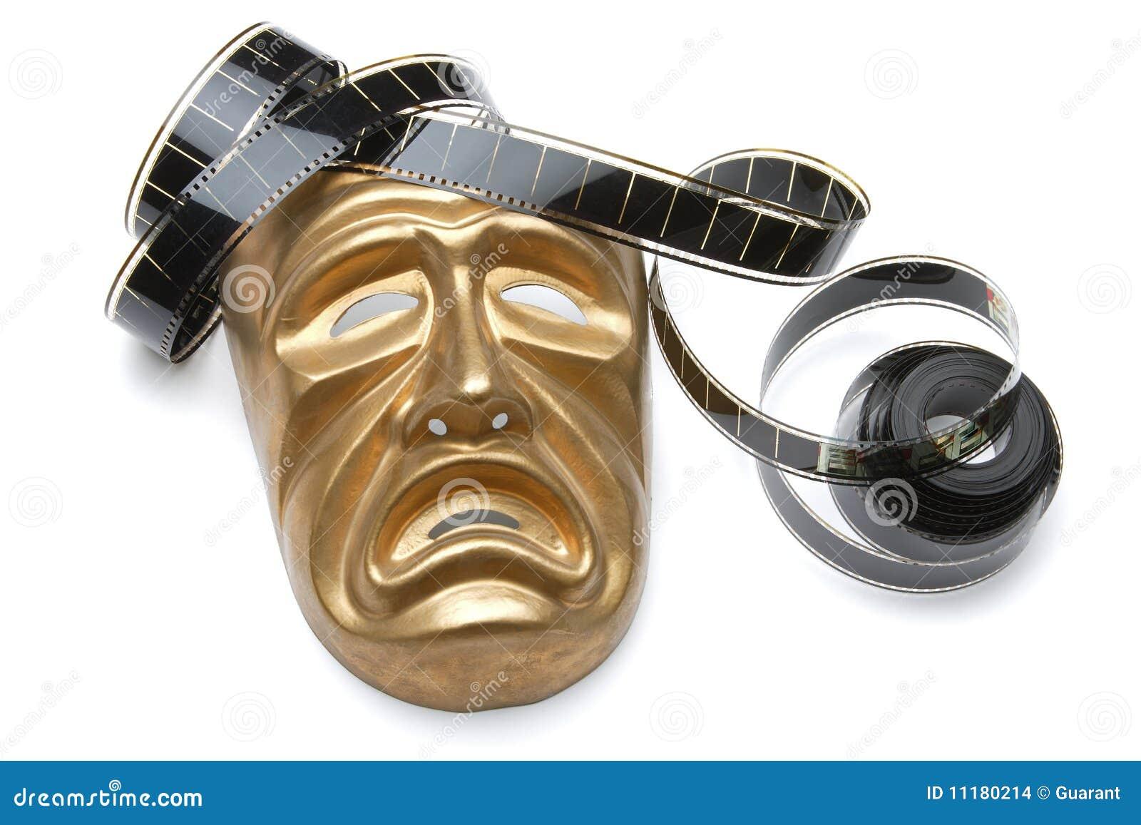 Máscara y película de teatro