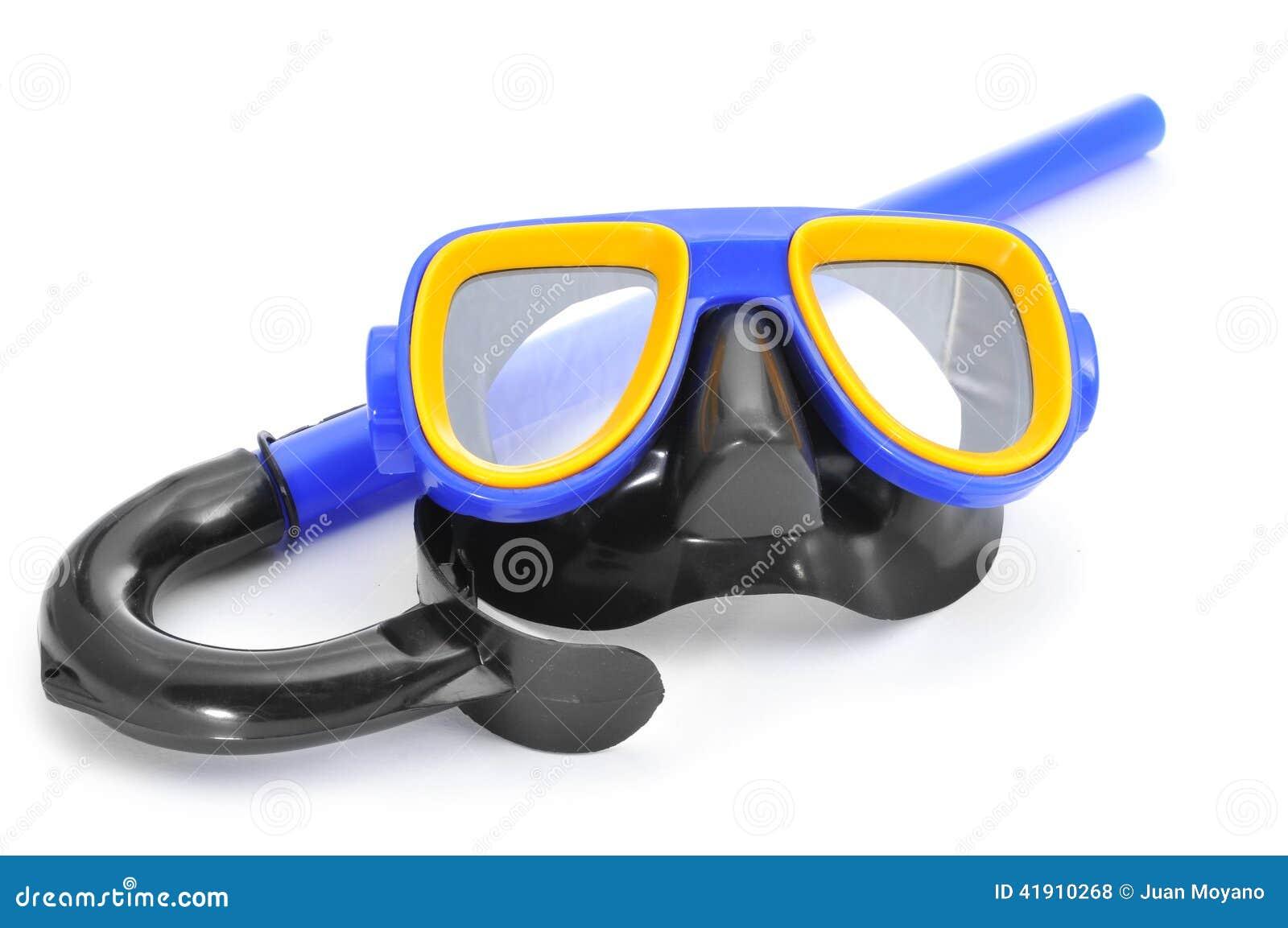 Máscara y tubo respirador del salto