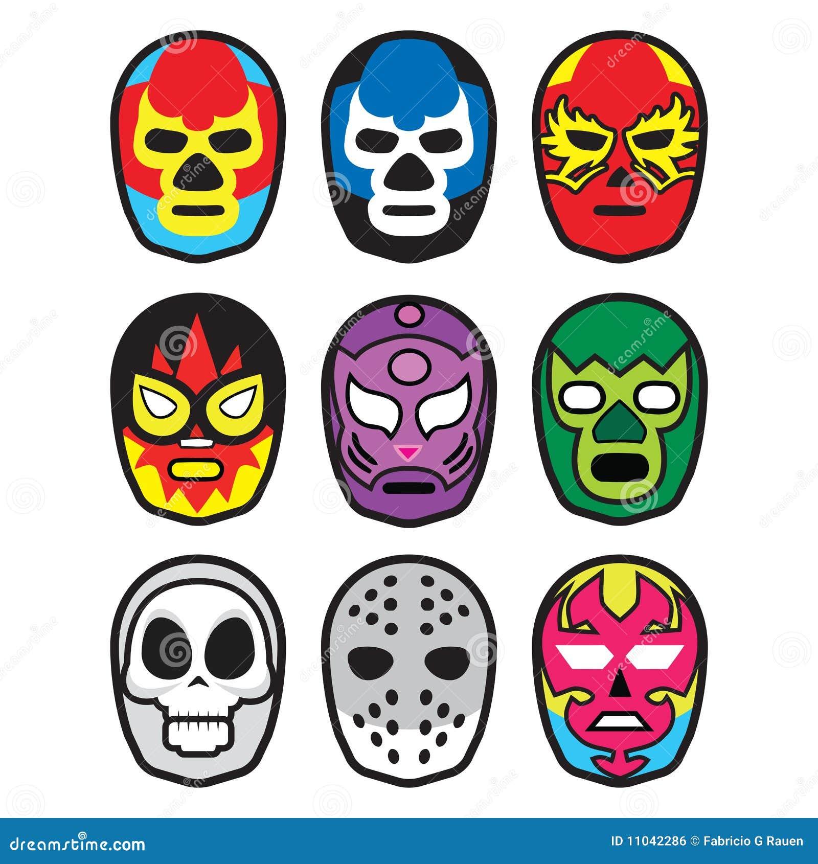 Máscaras De Lucha Ilustración Del Vector Ilustración De
