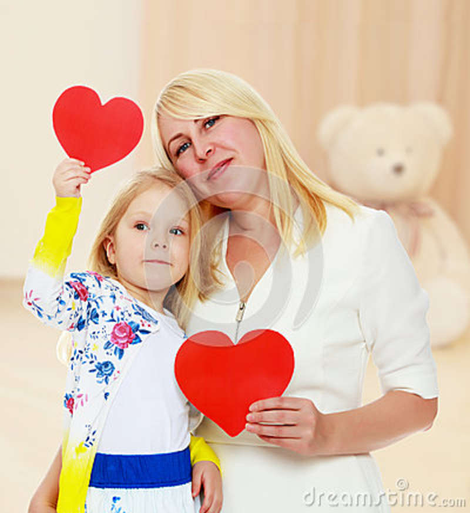 Mãe e filha que guardam um coração
