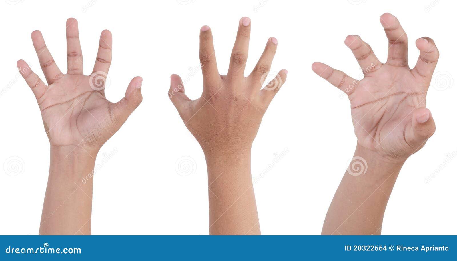Mão assustador