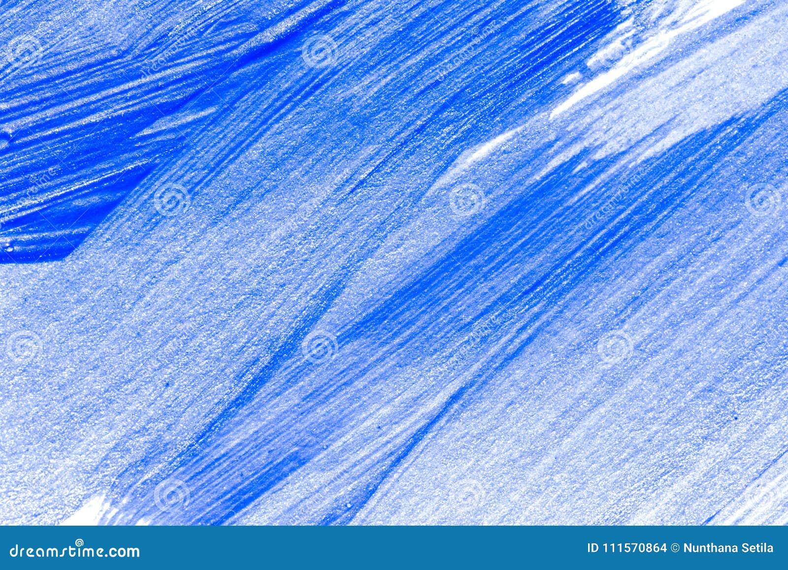 Mão azul abstrata fundo criativo tirado da arte da pintura acrílica O close up disparou da pintura acrílica colorida das pincelad
