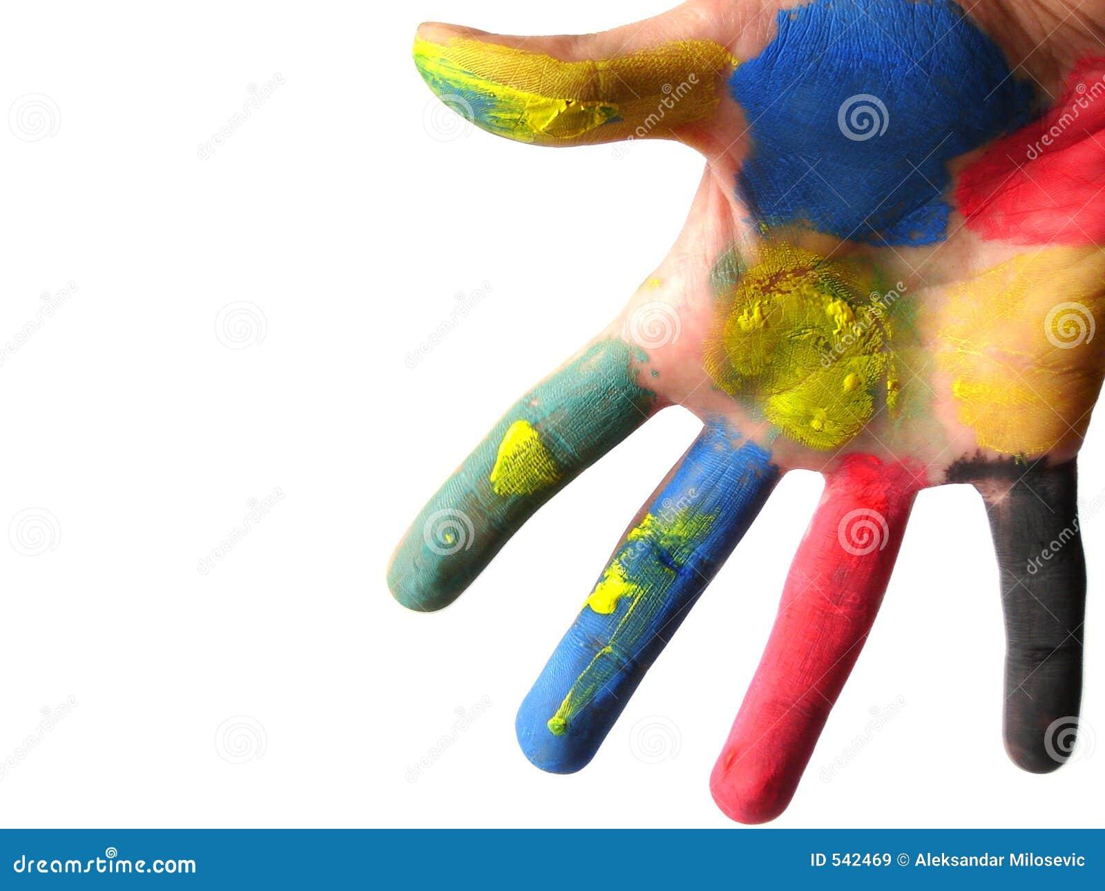 Mão colorida