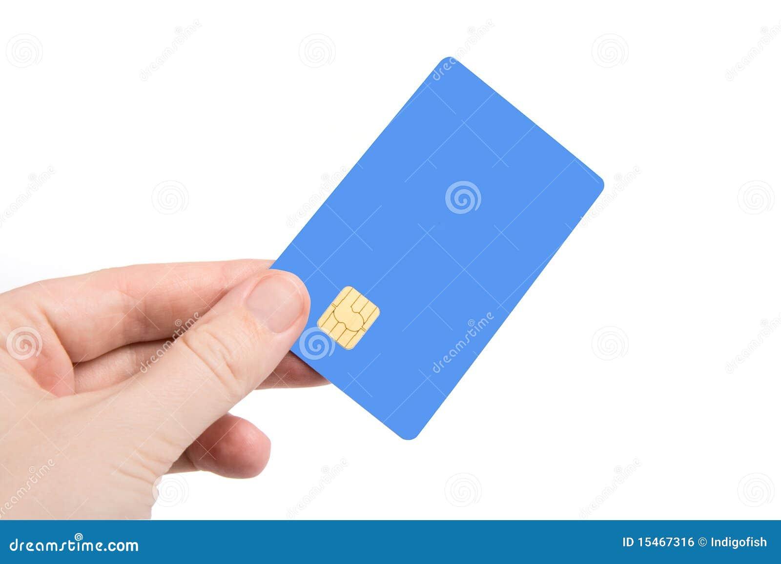 Mão com cartão de crédito