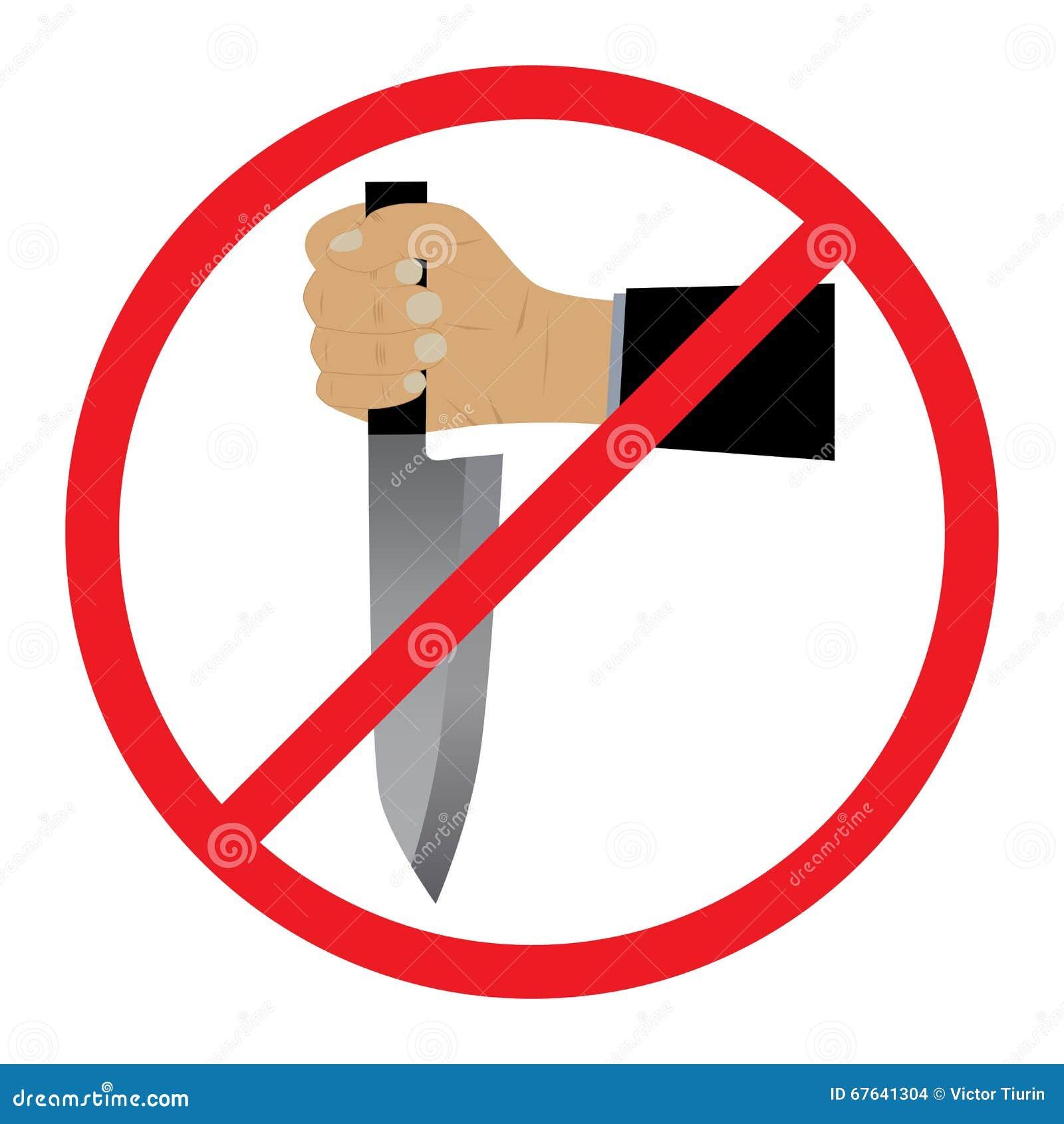 Mão com uma faca Nenhum sinal das armas
