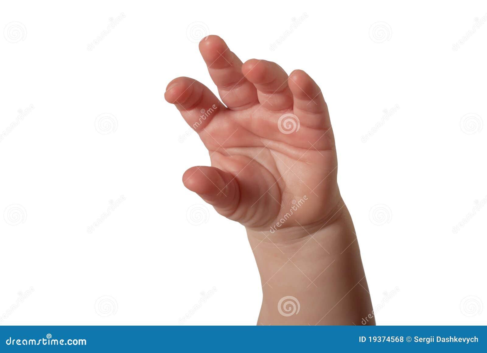 Mão da criança