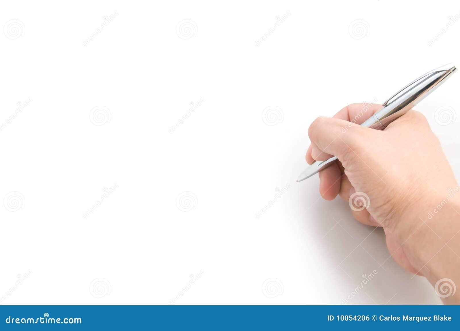 Mão da escrita