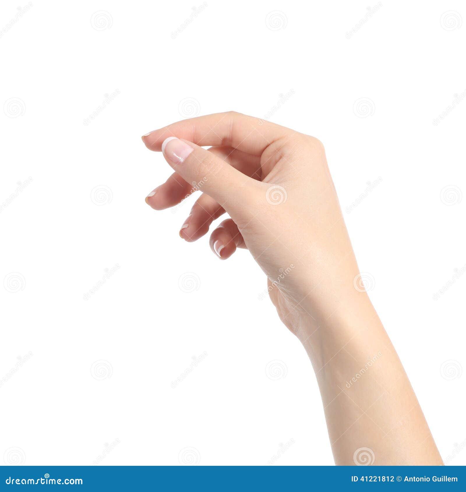 A mão da mulher que guarda algum gosta de um cartão vazio
