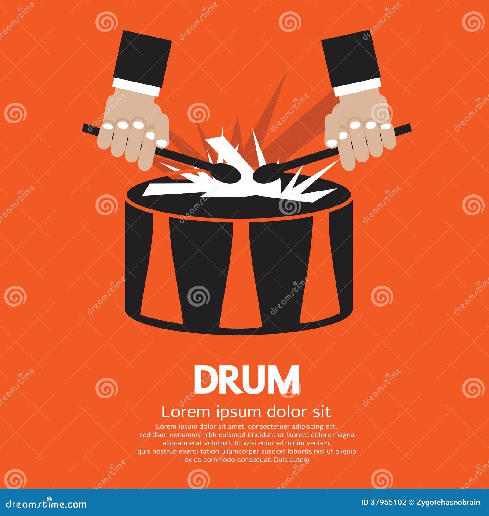 Mão do cilindro e do baterista.