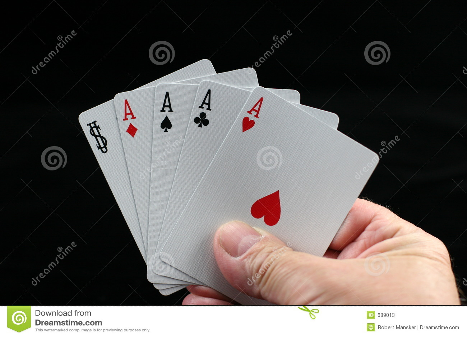 Mão do póquer.